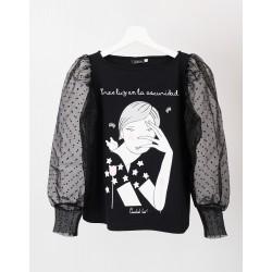 Camiseta-Luz-Anabel-Lee-negro