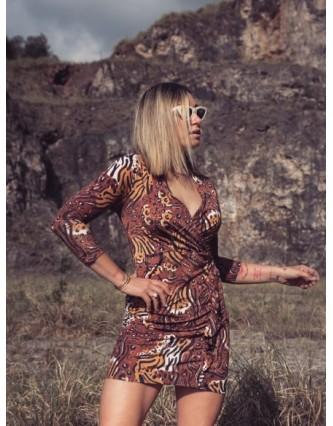 Vestido Animal Print Calaveras