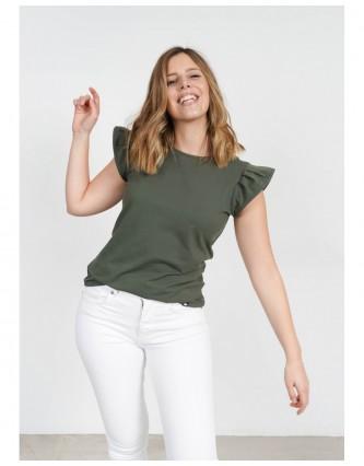 camiseta basica keep lovers verde